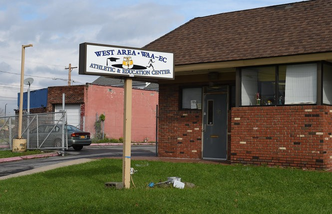 The West Area Athletic and Education Center, 303 S. Geddes St. in Syracuse, Nov. 2, 2018. Owner Ray Rinaldi is trying to buy the vacant building next door, at left.