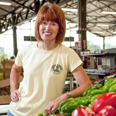 Linda Hafner at Chuck Hafner's Farmer's Market and Garden Center, which she operated with her husband, Chuck