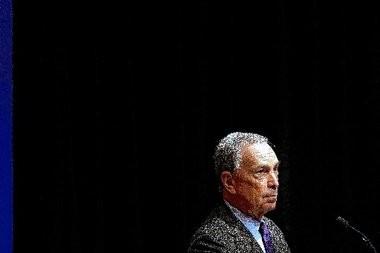 New York Mayor Michael Bloomberg listens Jan. 14 during a gun violence summit at Johns Hopkins Uni´versityâs Bloomberg School of Public Health in Balti´more.