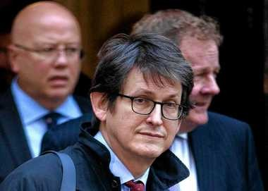 FILE - This Dec. 4, 2012 file photo shows Guardian newspaper editor Alan Rusbridger in London. The Obama administration knew in advance that the British government would oversee destruction of a newspaper's hard drives containing leaked National Security Agency documents last year, newly declassified documents show. The White House had publicly distanced itself from doing the same against an American news organization. (AP Photo/Alastair Grant, File)