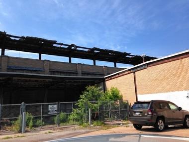 Old train platform above 400 Burnet Ave.
