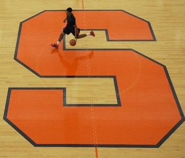 Syracuse guard Michael Gbinije works out during the Orange's first practice of the 2012-13 season. Gbinije, the Duke transfer, will be eligible to play for SU next season.