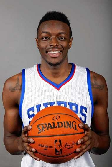 Philadelphia 76ers' Jerami Grant poses for a photo during the NBA basketball team's media day on Monday.