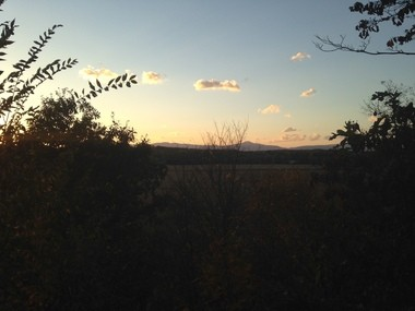 The view from the Lydons' back yard. Tim Lydon said he's captured countless visions of sunsets over the Catskill Mountains.