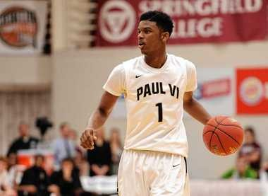Paul VI's Franklin Howard handles the ball during a game against Chaminade College Prep on Jan. 19, 2015, at the Spalding Hoophall Classic in Springfield, Mass. (Dave Roback   The Republican)