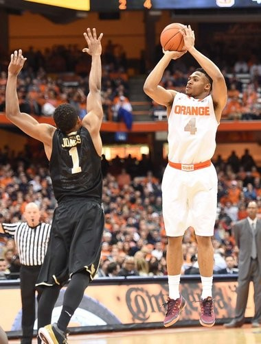 """Syracuse coach Jim Boeheim joked """"we're doing a transplant"""" with Ron Patterson and Gerry McNamara to improve his shooting."""