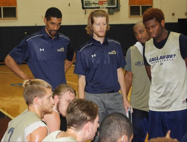 Former Syracuse basketball star Lawrence Moten is now an assistant coach at Gallaudet University.