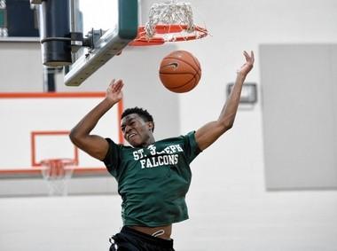 Syracuse basketball recruit Tyus Battle at St. Joseph's High School in Metuchen N.J.