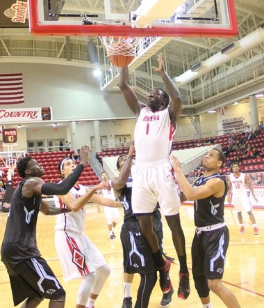 Former Syracuse basketball recruit Moustapha Diagne (1) now plays for Northwest Florida State.