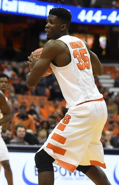 The Syracuse University basketball team defeated Florida State 85-72 in the Carrier Dome on Thursday night February 11, 2016. Syracuse University center Chinonso Obokoh (35)played in the second half. Stephen D. Cannerelli | scannerelli@syracuse.com