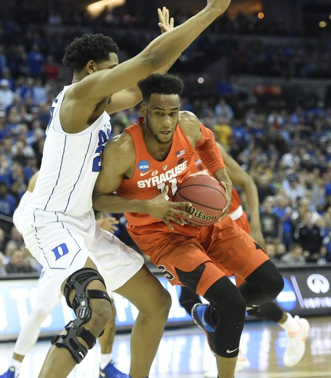 Syracuse forward Oshae Brissett (11) during a Sweet 16 game against Duke on Friday, March 23, 2018, at CenturyLink Center in Omaha, Neb. Dennis Nett | dnett@syracuse.com SYR