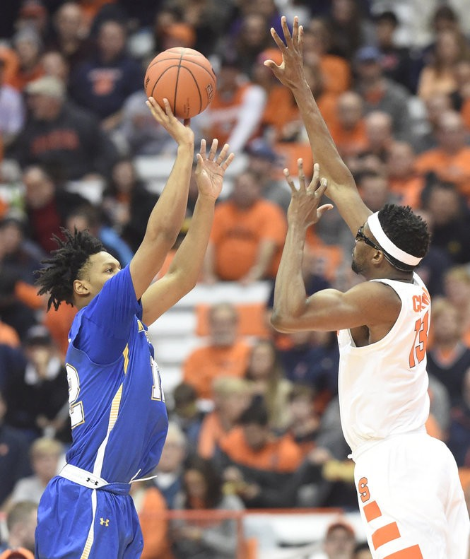 Syracuse center Paschal Chukwu (13) during a game against Morehead State on Saturday, Nov. 10, 2018, at the Carrier Dome in Syracuse, N.Y.. Dennis Nett | dnett@syracuse.com Dennis Nett | dnett@syracuse.com