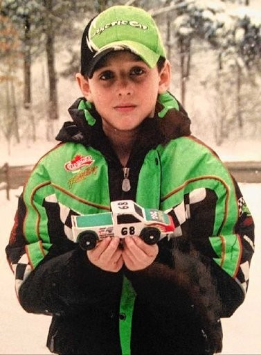 Tyler Lydon, in his snowmobile suit.