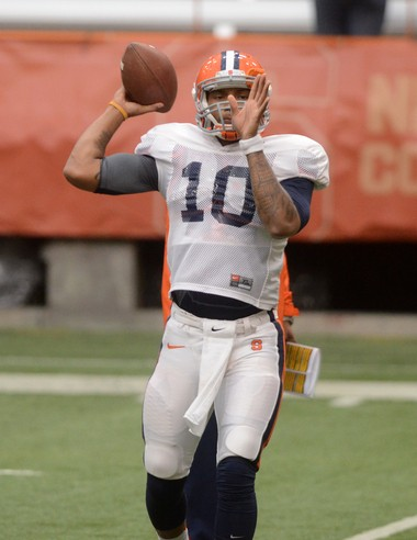 Terrel Hunt lost both parents before he enrolled at Syracuse. The redshirt sophomore quarterback will battle for the starting position throughout the summer.