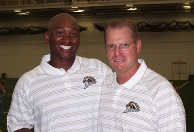 George McDonald, left, and Scott Shafer reunited at Syracuse after previously coaching together at Western Michigan.