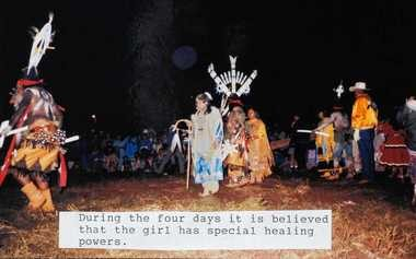 Scott and Missy Shafer were invited to observe a Sunrise Ceremony near the end of their time on the reservation. The event signifies a young girl's transition into womanhood.