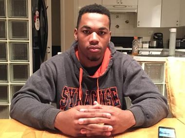 Syracuse running back signee Dontae Strickland spent most of his high school career living in a hotel room with his family.