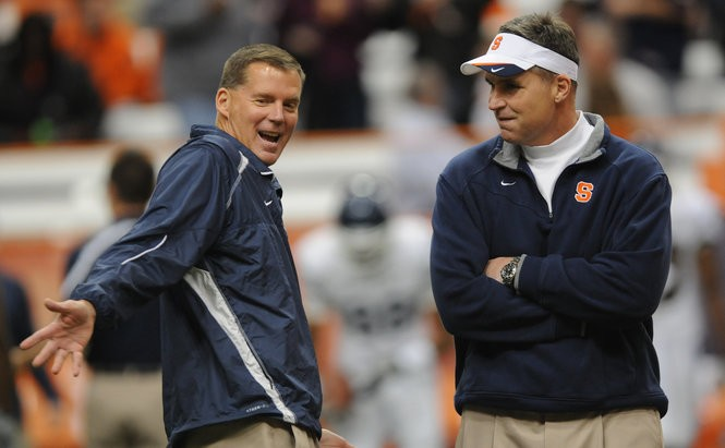 Randy Edsall wasn't interested in the Syracuse football job when Doug Marrone was hired after the 2008 season.