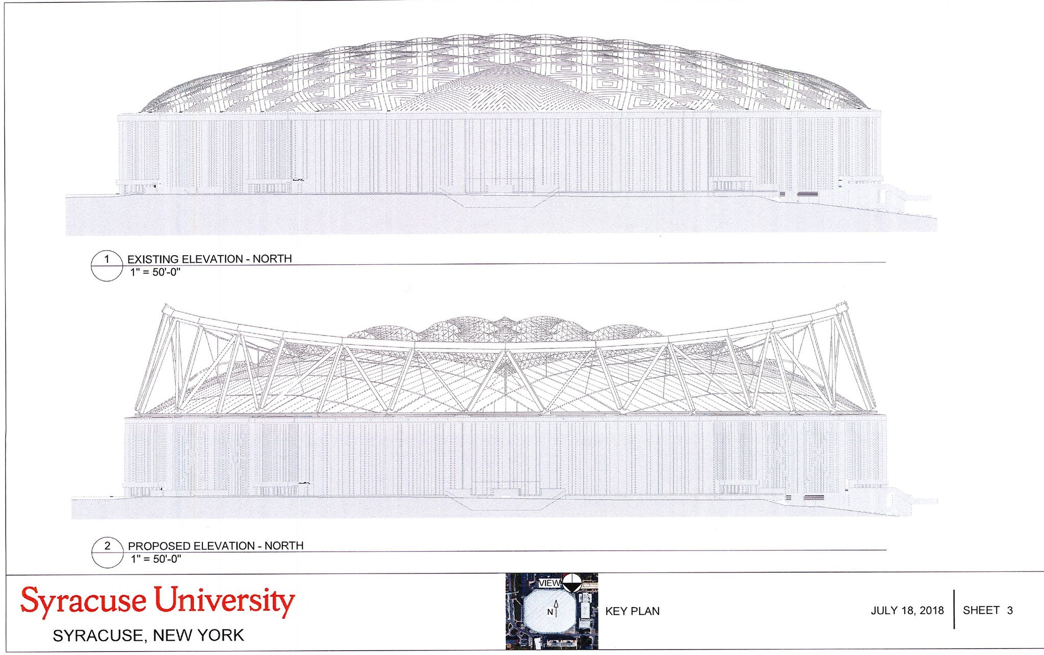 Detailed Look At Syracuse University S Plans For Renovated Carrier Dome Roof Syracuse Com
