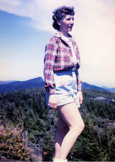 Grace Hudowalski on the summit of Phelps in 1942.