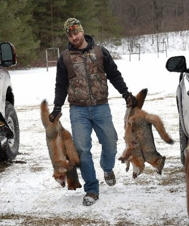 Keith Andreason was on the winning team that killed 13 foxes.