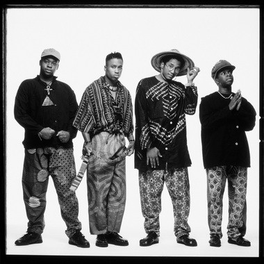 From left to right, A Tribe Called Quest members Jarobi White, Ali Shaheed Muhammad, Q-Tip and Phife Dawg are pictured in this undated file photo.