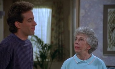 "Ann Guilbert appears on season 3 of ""Seinfeld"" as Evelyn, a neighbor of Jerry's parents."