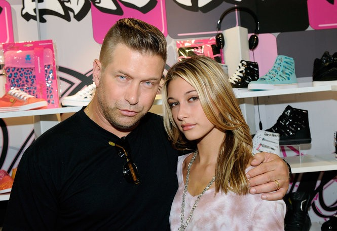 Actor Stephen Baldwin (L) and his daughter Hailey Baldwin appear at the Pastry booth at the MAGIC clothing industry convention at the Las Vegas Convention Center August 22, 2011 in Las Vegas, Nevada.