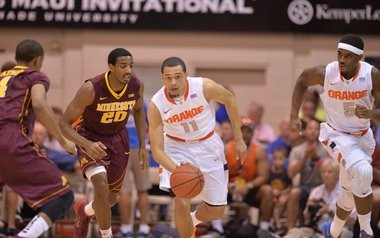 Syracuse freshman Tyler Ennis averaged 17 points and 6 assists in the Maui Invitational last week.