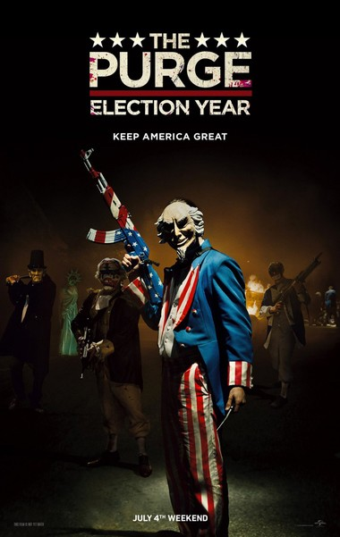 "2016 horror movie ""The Purge: Election Year"" used ""Keep America Great"" as a tagline."