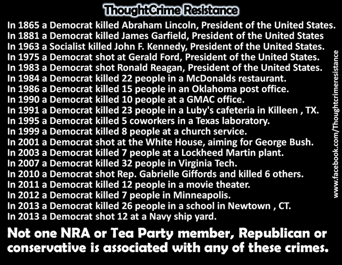 An image archived from Facebook shows a debunked meme on mass killers.