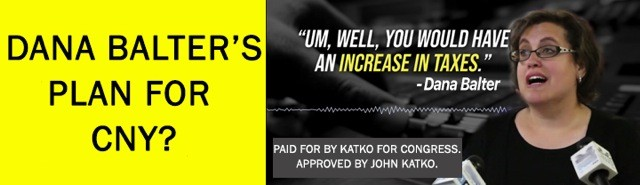 Rep. John Katko's campaign paid for this billboard at Interstate 690 and State Fair Boulevard, across from the New York State Fair.