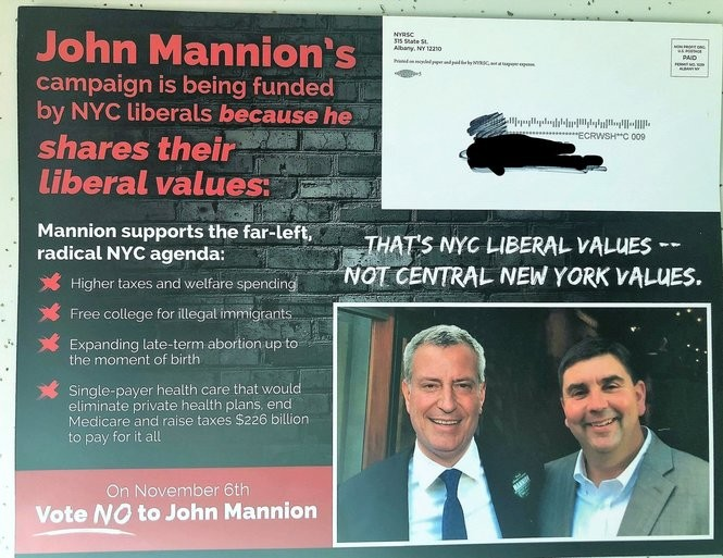 This mailer was sent out by the state Republican Senate Committee.