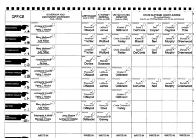 The Green Party appeared fourth on the ballot in NY thanks to Hawkins' strong showing four years ago in the race for governor.