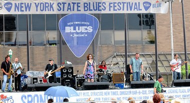 The Chris O'Leary Band was one of seven acts at the final day of the New York State Blues Festival in Clinton Square in 2012.