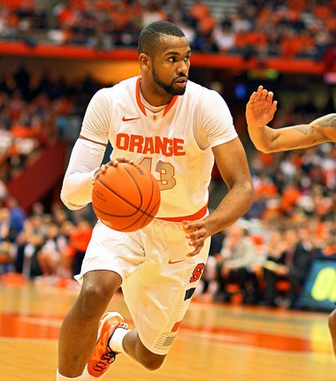 Syracuse senior James Southerland drives to the basket during Wednesday's Big East game against DePaul at the Carrier Dome.
