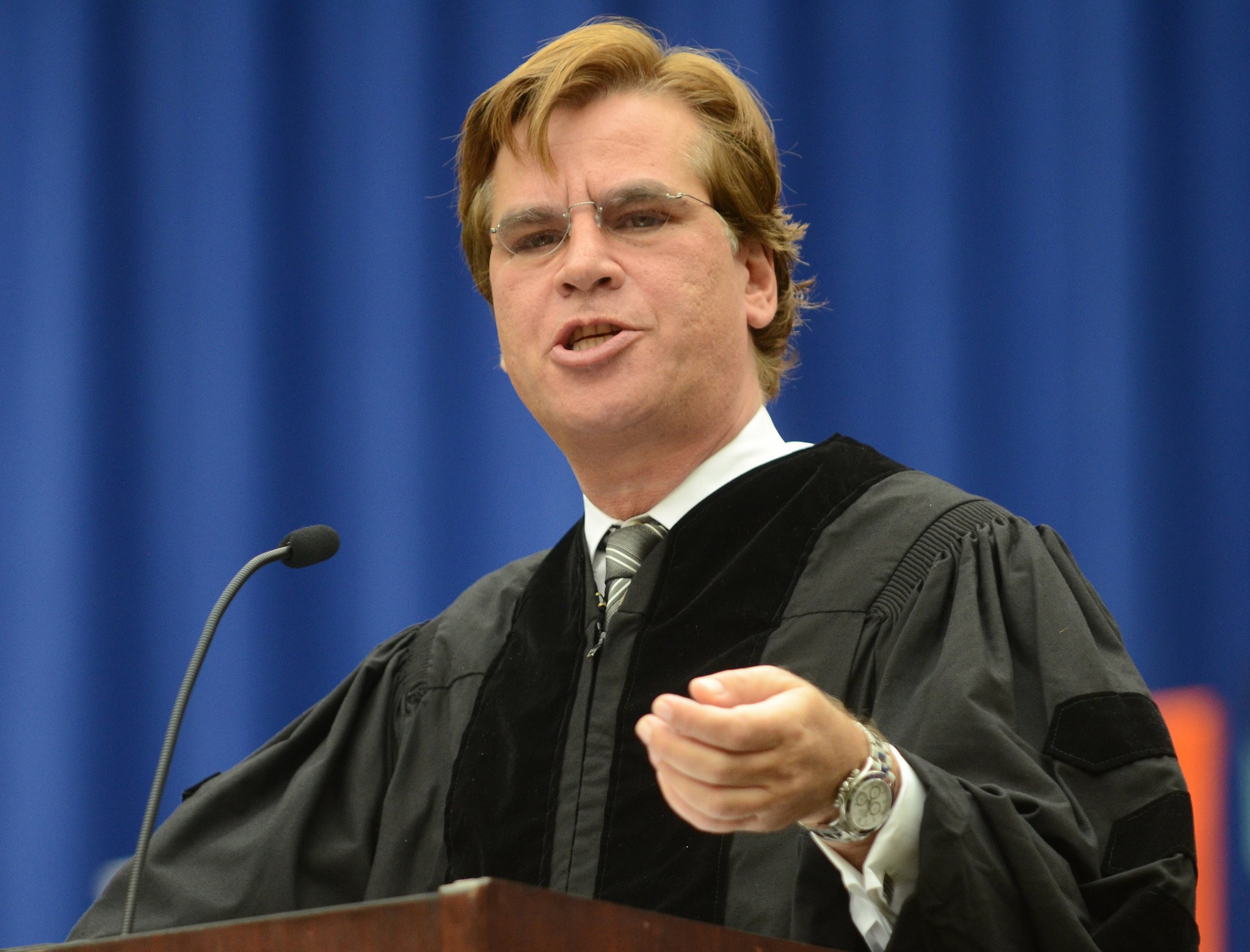 Aaron Sorkin returned to his alma mater last year to be Syracuse University's commencement speaker.