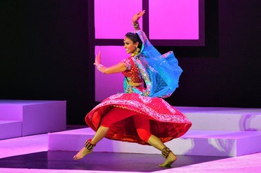 "Miss Syracuse Nina Davuluri performs a Bollywood Fusion dance ""Mere Dholna (My Love)"" during the talent portion of the 2013 Miss New York Pageant Saturday at the St. George Theatre."