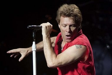Jon Bon Jovi performs for his die-hard fans at the Saratoga Performing Arts Center July 22, 2013.