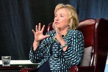 Hillary Clinton spoke Friday at Hamilton College.