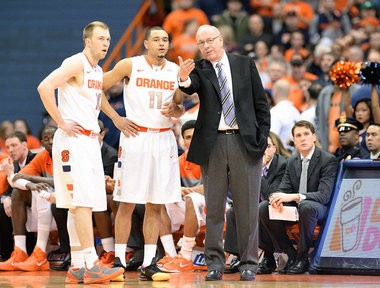 Syracuse coach Jim Boeheim has gotten great play out his starting backcourt of Tyler Ennis and Trevor Cooney.