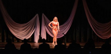 The Miss Syracuse 2014 Triple Crown Scholarship Competition was held at the Palace Theatre in Syracuse on Sunday, February 16, 2014. Caitlin Nolan of Camillus competes in the Miss Contestant Lifestyle & Fitness in Swimwear category.