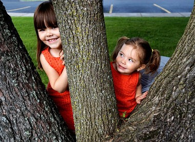 Peyton Bean, right, enjoys playing with her 2-year-old sister Odette. Peyton, who is now 5, was nearly killed in a car crash on the state Thruway last September.