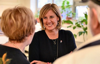 Claudia Tenney visits the New Hartford Senior Center on Friday, Oct. 28, 2016.