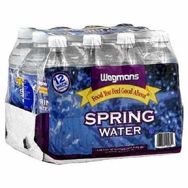 Wegmans 12-pack of 16.9-ounce bottled water.