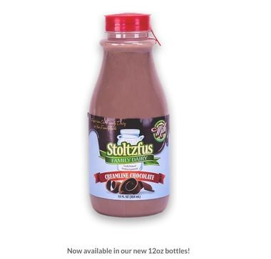 Stoltzfus Family Dairy has recalled its Creamline chocolate milk -- pictured in this screenshot from the Vernon dairy's website -- due to improper pasteurization.