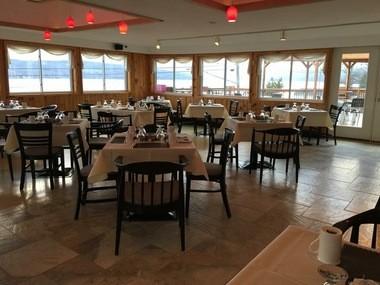 A view of Lakeside Vista restaurant, at 2437 Route 174 in Marietta, overlooking the northwest corner of Otisco Lake.