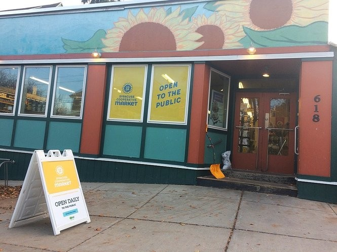 The Syracuse Real Food Co-op has a new name: the Syracuse Cooperative Market.
