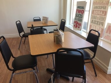 New indoor seating at Pies Guys Pizzeria in Eastwood.