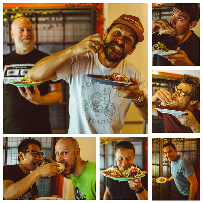 The partners in XO Taco, a new restaurant coming to Syracuse. Clockwise from top left are: Chef Steve Samuels, Original Grain founder Chris Bily, Matthew Gardner, OG founder Eric Hinman, James Capparelli, Alex Bily, Chedy Hampson and Jeff Knauss. Images provided by Chris Bily.